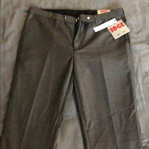 EDGE WDNY Sharkskin dress pants. 33x32 NWT
